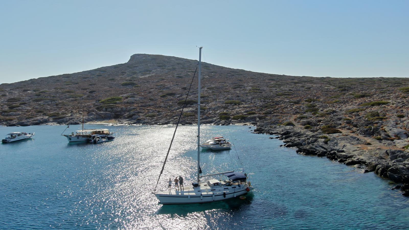 Boat in Dia Island of Crete